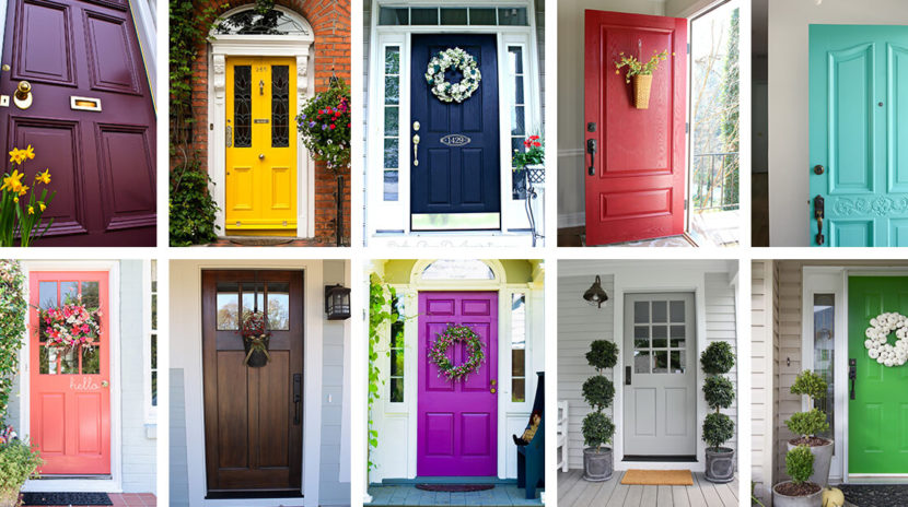 The trick to picking the perfect front door color san - Front door colours 2018 ...